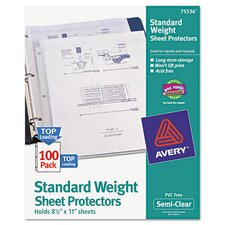 Top-Load Polypropylene Sheet Protector (100 Pack)