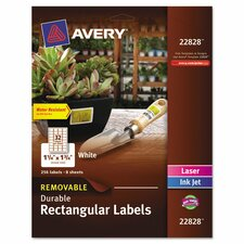 Removable Durable Label (256 Pack)