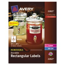 Removable Durable Label (32 Pack)