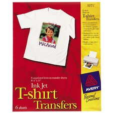 Ink Jet Light T-Shirt Transfers (Set of 6)
