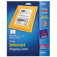 """5.5"""" x 8.5"""" Shipping Label 20 Count"""