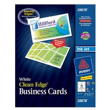 "2"" x 3.5"" Clean Edge Business Card 80 Count"
