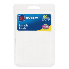 "0.5"" x 10.75"" Erasable Permanent Label 60 Count"