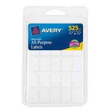"0.5"" x 0.75"" Rectangular Removable Label 525 Count (Set of 6)"
