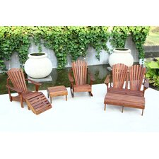 <strong>Hyre's Country Haven</strong> Signature Teak Adirondack Seat Group