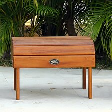 Signature Teak Adirondack Footrest / Side Table