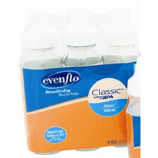 <strong>Evenflo</strong> 8 oz Clear Glass Nurser (3 Packs)