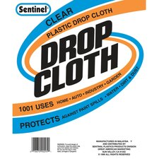 10' x 20' Sentinel® Clear Plastic Drop Cloths DC90121