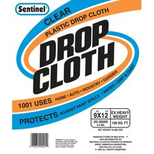 Sentinel® Clear Plastic Drop Cloths DC90295