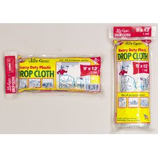 9' X 12' Jiffy Cover® Heavy Duty Plastic Drop Cloth JCS-912