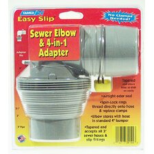 Easy Slip Sewer Elbow and 4-in-1 Adapter