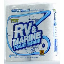 TST RV and Marine 2-Ply Toilet Paper - 500 Sheets per Roll (Set of 4)