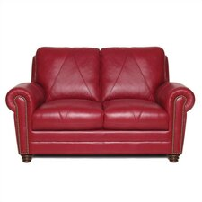 Weston Leather Loveseat