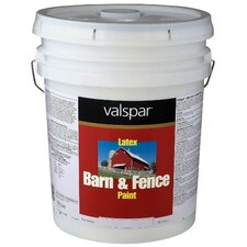 5 Gallon White Exterior Barn & Fence Latex Paint