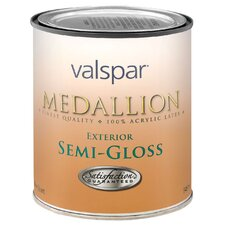 1 Quart White Medallion Exterior Latex House & Trim Paint Semi Gloss