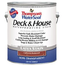 Thomspon's® WaterSeal® Deck and House California Redwood Semi-Transparent Latex Stain