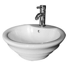 """18.1"""" Vessel Bathroom Sink"""