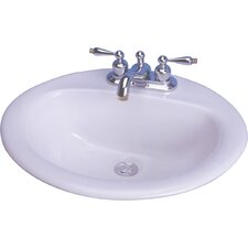 "20"" X 17"" Victor Drop In Bathroom Sink"