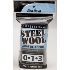 6 Pack Assorted Steel Wool 3332