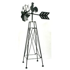 "36"" Black Chanticleer Windmill"