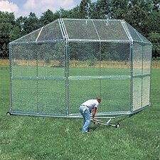 Portable Backstop with Hood