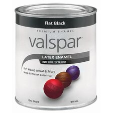 1 Quart Flat Black Latex Enamel 410-65050 QT