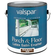 1 Gallon Dark Brown Porch & Floor Latex Satin Enamel 27-1515 GL