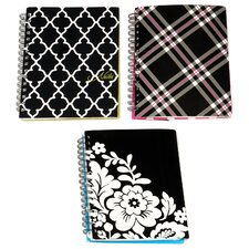 6 Count Assorted Design Ideal Notebook