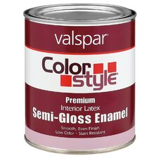 1 Quart White ColorStyle® Interior Latex Semi Gloss Enamel Paint 4
