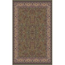 Gem Sarouk Green Rug