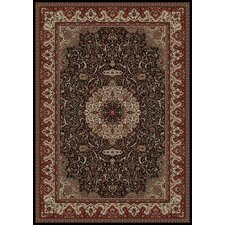 Persian Classics Maroon Oriental Isfahan Area Rug