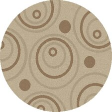 Shaggy Circles Natural Shag Rug