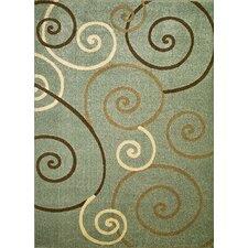 Arthur Blue Scroll Area Rug