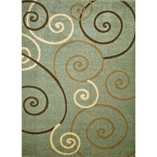 Arthur Scroll Blue Rug