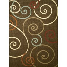 Arthur Scroll Brown Rug