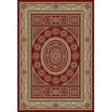 Gem Aubusson Red Area Rug