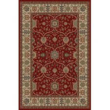 Gem Voysey Red Rug