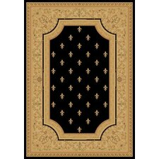 Charlemagne Fleur De Lys Black Rug
