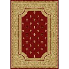 Charlemagne Fleur De Lys Red Rug