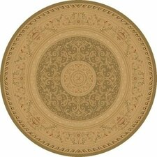 Imperial Charlemagne Heather Green / Tan Savonnerie Area Rug