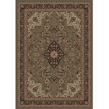 Persian Classics Oriental Medallion Green Area Rug