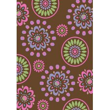 Alisa Flower Kaleidoscope Kids Rug