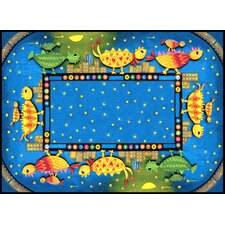 New York City Dino Chicks Kids Rug