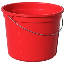 Red Plastic Pail with Handle