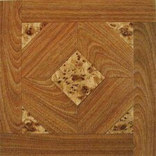 "<strong>Home Dynamix</strong> 12"" x 12"" Vinyl Tiles in Madison Woodtone/Marble"