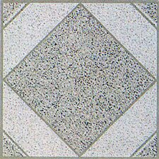 "12"" x 12"" Vinyl Tile in White Stone Diamond"