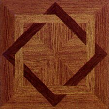 "12"" x 12"" Vinyl Tile in Machine Wood Star"