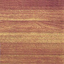 "12"" x 12"" Vinyl Tile in Light Wood Slats"