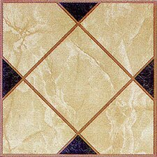 "12"" x 12"" Vinyl Tile in Light Brown Squares Cross"
