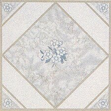 "12"" x 12"" Vinyl Tile in White Flower"
